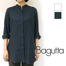 Bagutta(バグッタ)CITY 06121 バンドカラー ロングブラウス レデイース 正規品 レディース