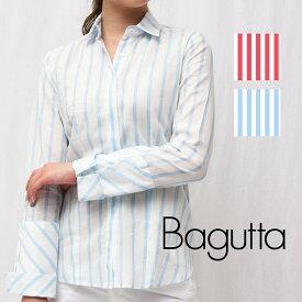 Bagutta(バグッタ)AGATA 06272 コットン ストライプシャツレディース 正規品