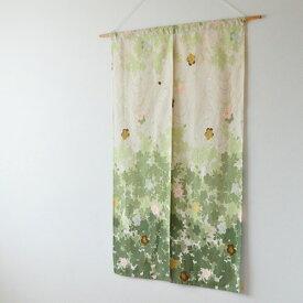 のれん sakura グリーン さくら柄 桜柄 花柄 暖簾 和風 春 国産 日本製