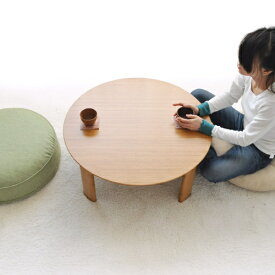 TEORI 直径80cm 竹の ちゃぶ台 丸 折れ脚タイプ天然木 折りたたみ式 木目 木製 ナチュラル 国産 日本製