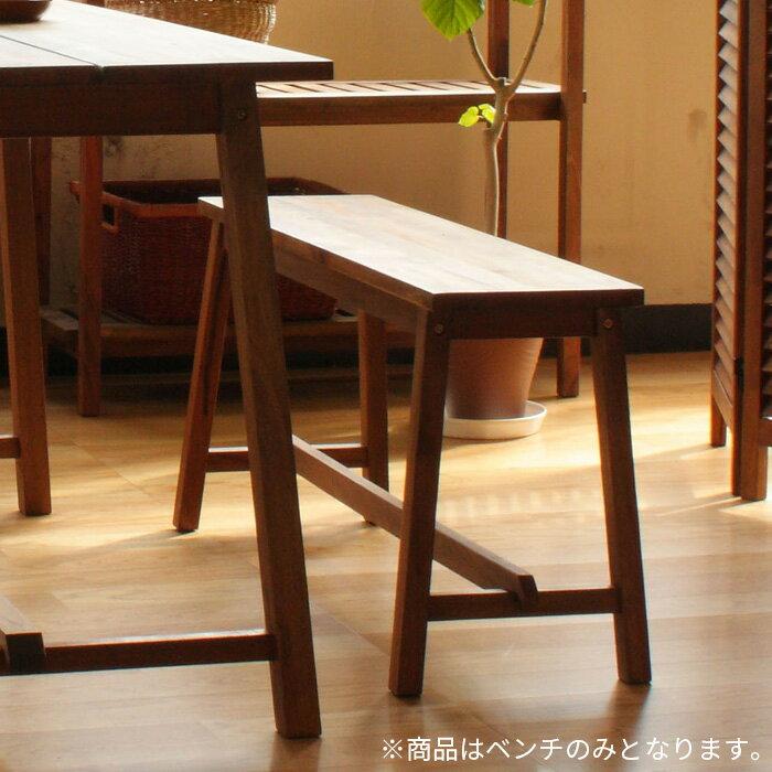 ベンチ KOE-JAR 木製 天然木 マホガニー オイル仕上げ ダイニング チェア 椅子 ブラウン ナチュラル 北欧テイスト ダイニングチェア 送料無料