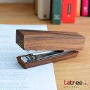 ホッチキス ステープラー ウォルナット材 PL1DEN-0230102-WNOL Latree 木製 天然木 ウォールナット ナチュラル ラトレ…