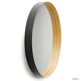 TEORI 竹の 壁掛けミラー ZERO L 乳白 墨色直径58cm 木製 竹製 天然木 ウォールミラー 鏡 ミラー国産 日本製