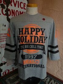 "★roial international(ロイアル)★T80 ""HAPPY ROIAL 33"" 七分袖Tシャツ七分袖TシャツGREY"