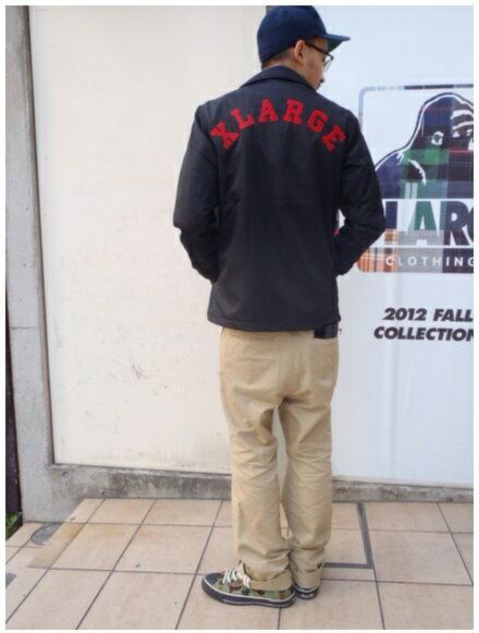 """★XLARGE エクストララージ★""""Gorilla 91"""" COACHES JACKET コーチジャケット 0123508ブラック"""