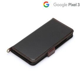 □◆ Google Pixel 3用 フリップカバー ブラック PG-PX3FP01BK【メール便送料無料】