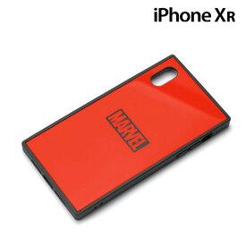 MARVEL iPhone XR(6.1インチ)用 ガラスハイブリッドケース ロゴ/レッド PG-DCS622RD【メール便送料無料】