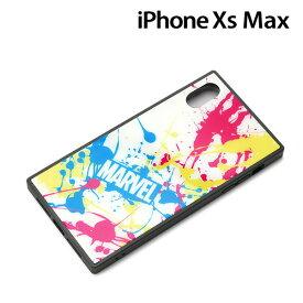 □◆ MARVEL iPhone XS Max(6.5インチ)用 ガラスハイブリッドケース スプラッシュロゴ/ホワイト PG-DCS635WH【メール便送料無料】