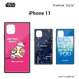 □◆ スターウォーズ (STAR WARS) iPhone 11 (6.1インチ) ガラスハイブリッドケース PG-DGT19B33BB/PG-DGT19B34SW/PG-DGT19B35SW【メール便送料無料】