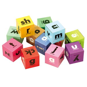 アルファベットキューブ 12pcs 66038【アルファベット/ブロック/文字/ことば/えいご/英語/知育玩具/パズル】
