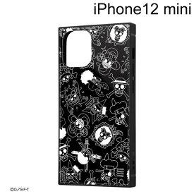 イングレム ワンピース iPhone 12 mini (5.4インチ)専用 耐衝撃ハイブリッドケース KAKU 海賊旗マーク IQ-OP26K3TB/OP004【メール便送料無料】