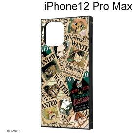 イングレム ワンピース iPhone 12 Pro Max (6.7インチ) 耐衝撃ハイブリッドケース KAKU 手配書 IQ-OP28K3TB/OP007【メール便送料無料】