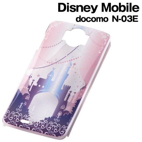 ☆◆ レイ・アウト ディズニー docomo Disney Mobile ( N-03E )専用 キャラクター・クリアラメ・シェルジャケット キャッスル RT-DN03EB/CA【メール便送料無料】
