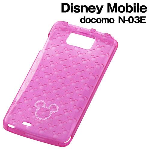 ☆◆ レイ・アウト ディズニー docomo Disney Mobile ( N-03E )専用 キラキラ・ソフトジャケット ミッキーピンク RT-DN03EG/MP【メール便送料無料】