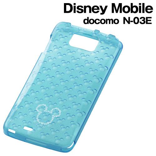 ☆◆ レイ・アウト ディズニー docomo Disney Mobile ( N-03E )専用 キラキラ・ソフトジャケット ミッキーブルー RT-DN03EG/MA【メール便送料無料】