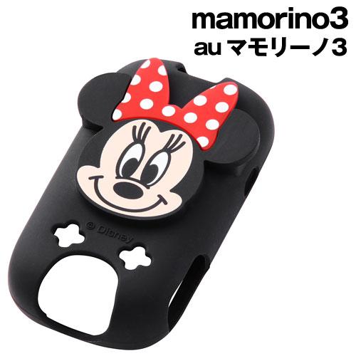 ☆◆ レイ・アウト ディズニー au mamorino3 (マモリーノ3)用 キャラクター・ダイカット・シリコンジャケット ミニー RT-DMM3A/MN