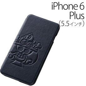 ☆◆ レイ・アウト ONE PIECE (ワンピース) iPhone6 Plus (5.5インチ) 専用 ブック・レザージャケット(合皮)/エース RT-OP8F/AS