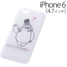 iPhone6 ケース☆◆ レイ・アウト ディズニー iPhone6 (4.7インチ) 専用 ベイマックス・ソフトジャケット/アイアムベイマックス RT-DXP7C/IB【メール便送料無料】