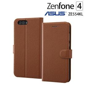 レイ・アウト ASUS ZenFone 4 ZE554KL (5.5インチ) 専用 手帳型ケース シンプル マグネット ダークブラウン RT-RAZ4ELC1/DK