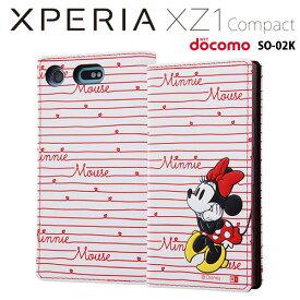 レイ・アウト ディズニー docomo Xperia XZ1 Compact (SO-02K) 専用 手帳型ケース カーシヴ ミニー RT-RDXZ1CT/MN