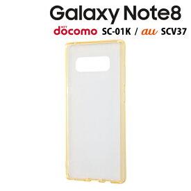 レイ・アウト Galaxy Note8 ( docomo SC-01K / au SCV37 ) 専用 ハイブリッドケース ゴールド RT-GN8CC2/CGM【メール便送料無料】