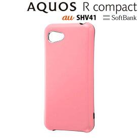 4d68c958f7 イングレム Softbank AQUOS R compact 専用 スマホ耐衝撃ケース カラップ ペールピンク IN-
