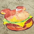 【送料無料】☆◇ディズニーダイカットビーチタオルミッキーマウスファンバーガー2125008100【Disney/ミッキー/大判/バスタオル/海/夏/プール/ビーチ/バカンス/海水浴/フォトジェニック/ハンバーガー】