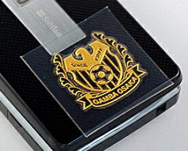 ◆Jリーグ加盟チームサッカーエンブレム金蒔絵シールガンバ大阪