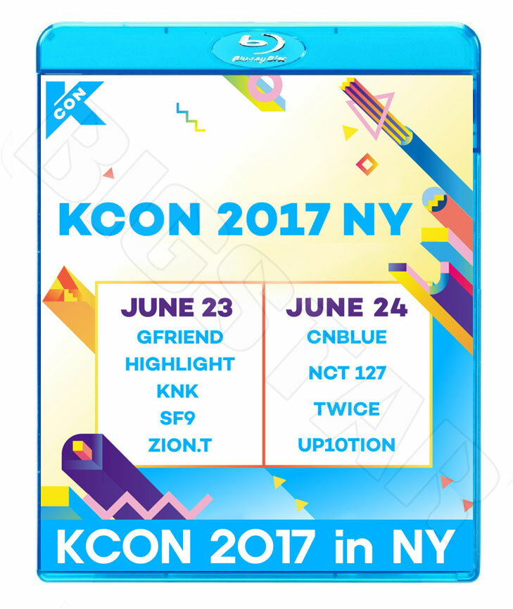 【Blu-ray】☆★2017 KCON in New York (2017.07.06)★CNBLUE NCT127 HIGHLIGHT TWICE SF9 ZION.T UP10TION KNK GFRIEND 他【LIVE KPOP ブルーレイ】【メール便は2枚まで】