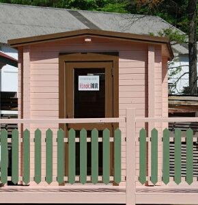 タイニーハウス ヒノキミニログハウス 3畳平屋