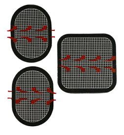 非純正品ジェルパッド シート 取り替え forエボリューション/プレミアム/アブベルト腹筋用パッド3枚セット・対応交換用パッド/フィギュラ/フレックス/ジムボディ/MAX/ジェルパッド/システムプラス