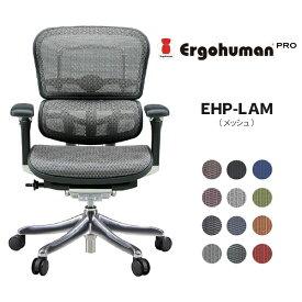 【ポイント5倍】【メーカー直送】エルゴヒューマン プロ ロータイプ (メッシュ) EHP-LAM 高機能オフィスチェア Ergohuman