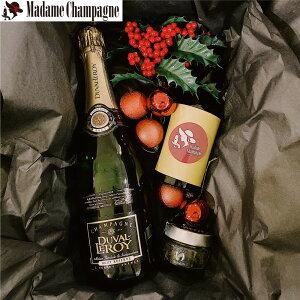 シャンパン詰め合わせギフトセット (シャンパン750ml+スペイン王室御用達オリーブオイル2種)