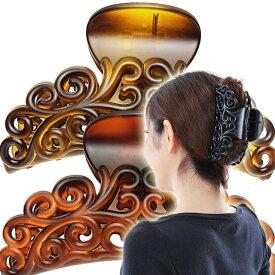 美人髪 バンスクリップ XXL 特大 アラベスクガッツリとめるMEGA MAX市場最大級のバンスです。大きい 大きめ フェミニン おとな 唐草