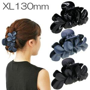 【最大級】美人髪 バンスクリップ XL 特大 花かんむりガッツリとめるMEGA MAX市場最大級のバンスです。大人 花 おしゃれ まとめ髪 多毛 ボリューム ヘアアレンジ フラワー