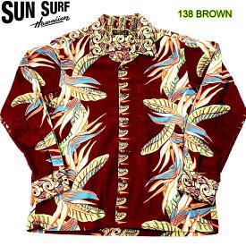 """SUN SURF COTTON FLANNEL LONG SLEEVE SHIRT """"BIRD OF PARADISE"""" サンサーフ コットン フランネル 長袖シャツ 長袖ハワイアンシャツ 長袖アロハシャツ 日本製 SS27707"""