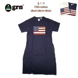 grn ジーアールエヌ USA cotton short sleeve dress USAコットン使用 半袖 ワンピース GL721144F 【送料無料!!】