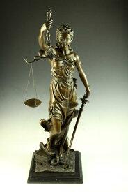 【送料無料】超大型ブロンズ像◇正義の女神◇Houdon◇76cm◇17キロ