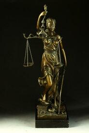 【送料無料】大型ブロンズ像◇正義の女神◇Houdon◇40cm