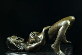 【送料無料】超人気ブロンズ像 セクシーな裸女 Nino Oliviono 作インテリア彫刻美術品フィギュア