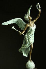【送料無料】超大型ブロンズ像◇名声の天使◇ピエールBiard 61cm置物彫刻銅像インテリア