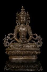 仏教美術 ブロンズ像 無量寿仏 アミターバ 21cm希少インテリア彫刻仏像