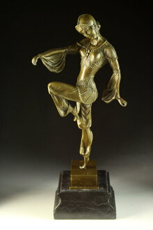 Large figure in bronze King Mai D H チパルス 43cm perfect gem