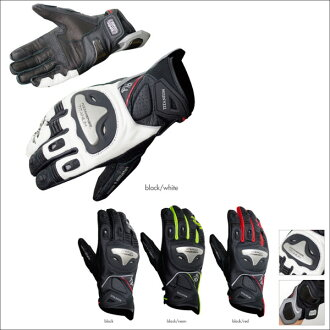 KOMINE GK-170 titanium sport leather glove 06-170