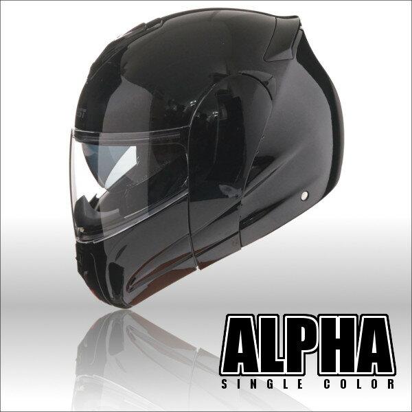 限定特価!インナーバイザー付きフリップアップシステムヘルメット アルファ ALPHA