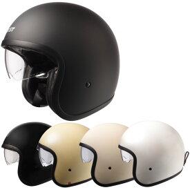 【今だけマスクプレゼント!】ジェットヘルメット/スタイリッシュインナーバイザー付きジェットヘルメット SG/PSCマーク付き クロムJ バイク用 かっこいい クレスト