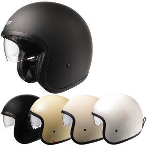 【今だけマスクプレゼント!】ジェットヘルメット/スタイリッシュインナーバイザー付きパイロットヘルメット SG/PSCマーク付き クロムJ バイク用オシャレ かっこいい クレスト大きいサイ