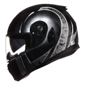 ワンタッチインナーバイザー付きフルフェイスヘルメット NINJA ニンジャ フェニックスグラフィック バイク用 かっこいい クレスト