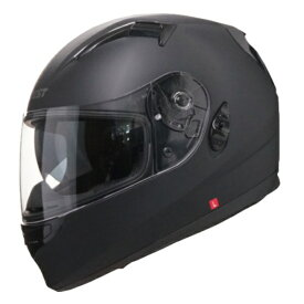 ワンタッチインナーバイザー付きフルフェイスヘルメット NINJA ニンジャ シングルカラー バイク用 かっこいい クレスト