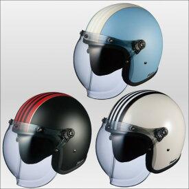 OGKカブト ロックジーワン ジェットヘルメット ROCK G1 KABUTO ホワイトブラック/57-59cm